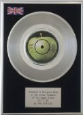 "THE BEATLES -  7""  Platinum Disc   LET IT BE"